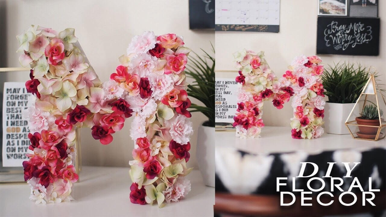 Diy Floral Letter Super Easy Amp Cheap Youtube