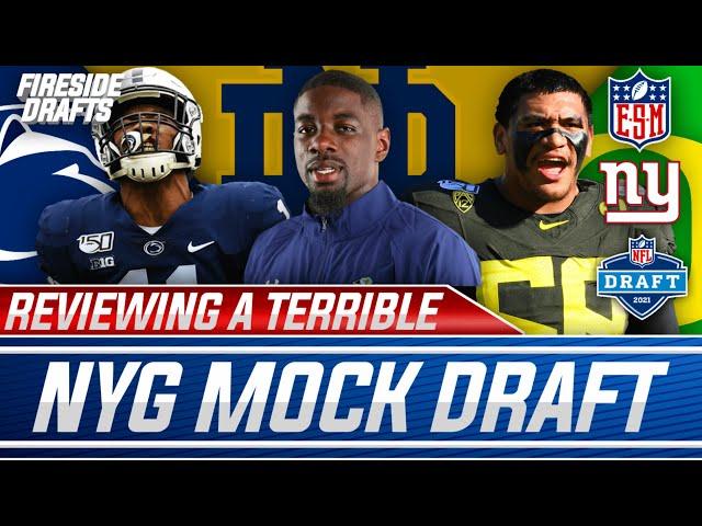 Reacting To An ASBURD New York Giants Mock Draft By ESPN
