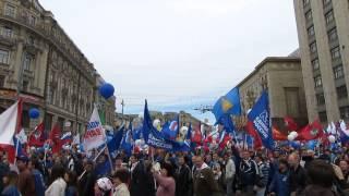 Демонстрация. 1 Мая 2013, г.Москва, ул.Тверская