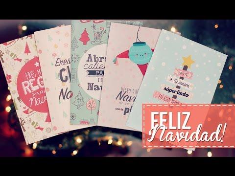 Tarjetas y mensaje navideño :)!