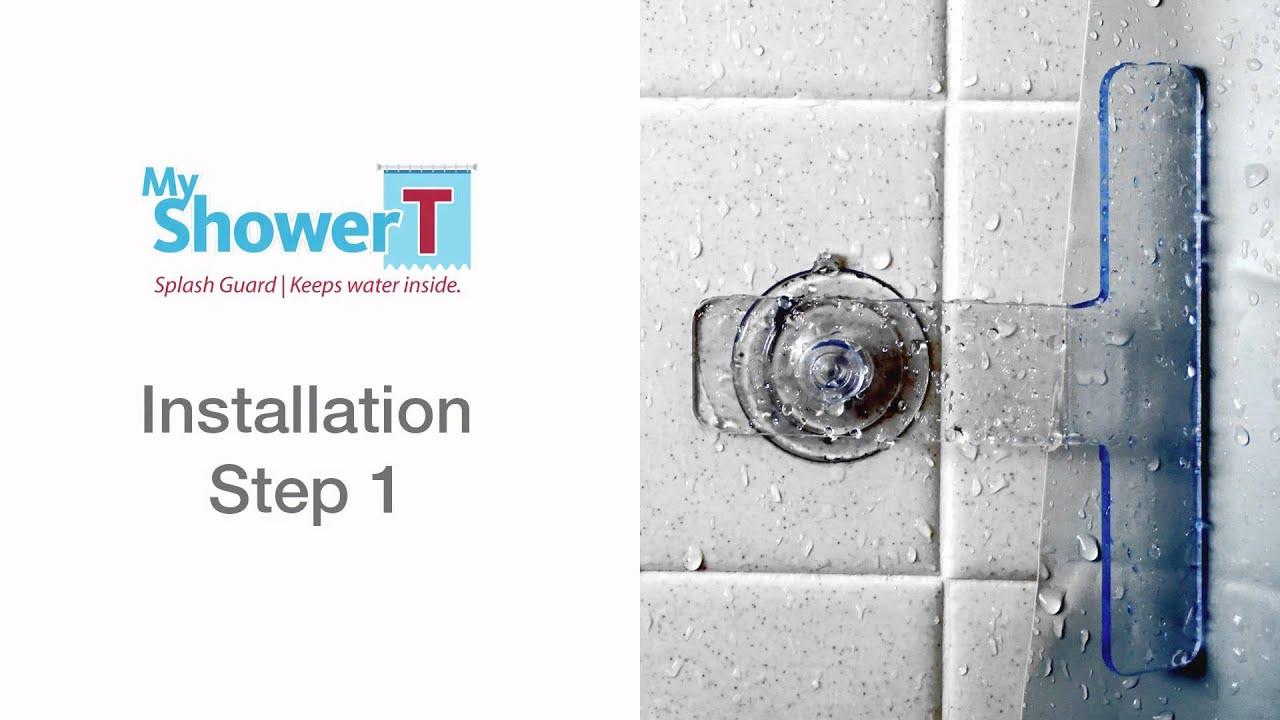 How To Install Shower U0026 Bathtub Splash Guard | My Shower T Splash Guard