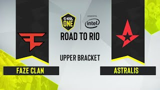 CS:GO - Astralis vs. FaZe Clan [Dust2] Map 1 - ESL One: Road to Rio - Upper Bracket Final - EU