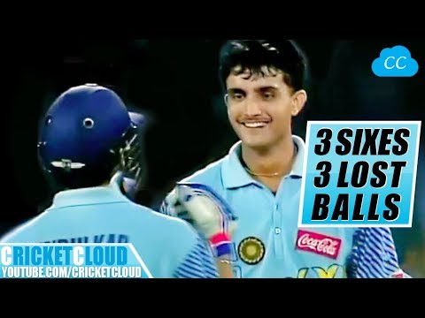 Sourav Ganguly's 3 SIXES - 3 LOST BALLS | MUST WATCH !!