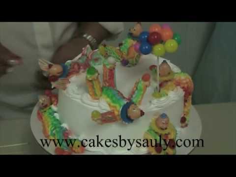 Decoracion de Pasteles con Sauly - Pastel de Payasos - YouTube