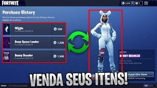 HOW TO REIMBURSE/SELL YOUR ITEMS AND SKINS! -Fortnite, the