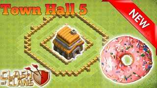 Clash of Clans | NEW Th5 Ring Base/ Donut Base Defense Strategy Base 2017 | Clash of Clan base