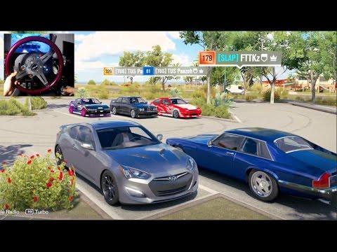 Forza Horizon 3 GoPro 350hp Lobby! Hyundai Genesis Online Drifting !