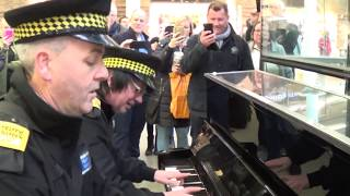 Traffic Police Learning How To Play The Piano