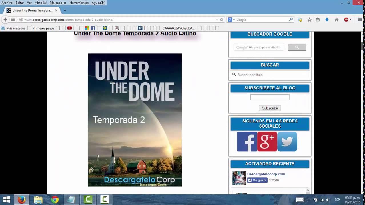 Descargar Bajo El Domo 2 Temporada Espanol Latino Mega Youtube