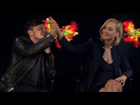Jennifer Lawrence On The Time She Nearly Hit Josh's Mom! | Mockingjay Part 2 Interview