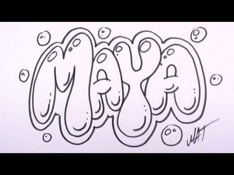 Graffiti Writing Maya Name Design 27 In 50 Names Promotion Mat