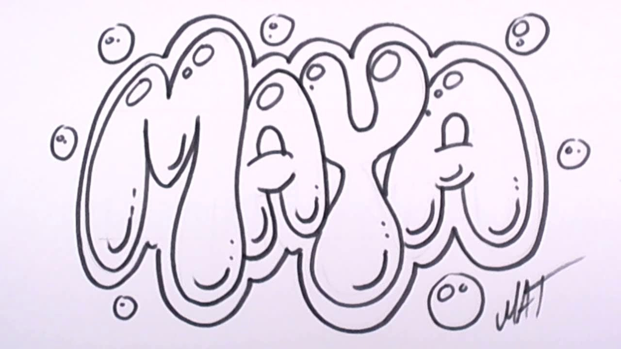 Graffiti Writing Maya Name Design 27 In 50 Names Promotion Mat