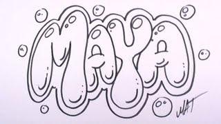 Graffiti Writing Maya Name Design #27 in 50 Names Promotion | MAT