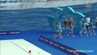 Первенство России 2016 по художественной гимнастике в групповых упражнениях - Сборная МГФСО 5 мячей