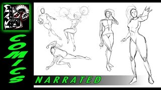 Drawing Various Poses - Women -  Using Sketchbook Pro - by Robert Marzullo