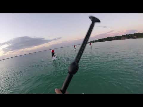 hacemos paddle board en Bacalar