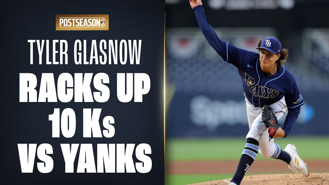 Rays' Tyler Glasnow strikes out TEN Yankees in ALDS Game 2 win!