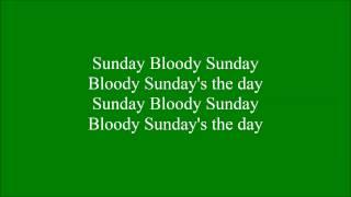 Video Bloody Sunday with lyrics download MP3, 3GP, MP4, WEBM, AVI, FLV Januari 2018