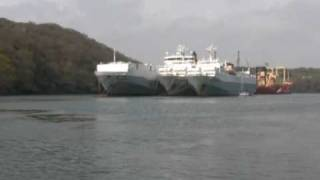 Laid up Ships in the River Fal