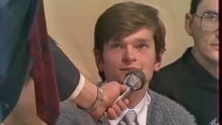 Молодой  Кургинян, Проханов ,Шурыгин и М Лонтьев  архивное видео начала 90х