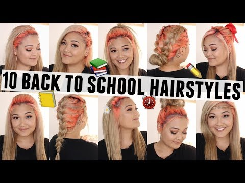 10 Easy & Heatless Hairstyles for Back to School // Under 5 Minutes