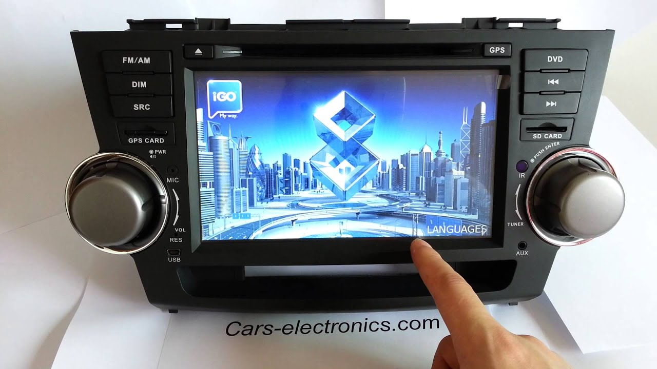 Toyota Highlander Car Dvd Gps Navigation System Touch