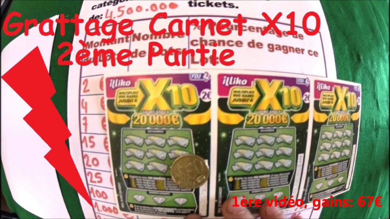 grattage d 39 un carnet de jeux gratter x10 2 me partie jeux fdj illiko youtube. Black Bedroom Furniture Sets. Home Design Ideas