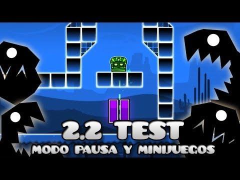 """Modo pausa"" + minijuego - Geometry Dash 2.2 beta Subzero"