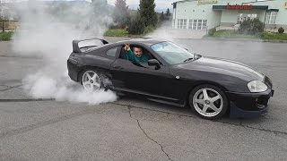 Russian style burn out with Toyota Supra