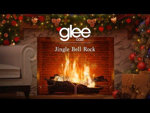 glee-cast---jingle-bell-rock-(official-yule-log---christmas-songs)