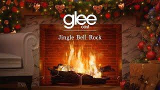 Glee Cast - Jingle Bell Rock (Official Yule Log - Christmas Songs)