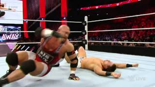 Ryback vs. The Miz: Raw, March 16, 2015