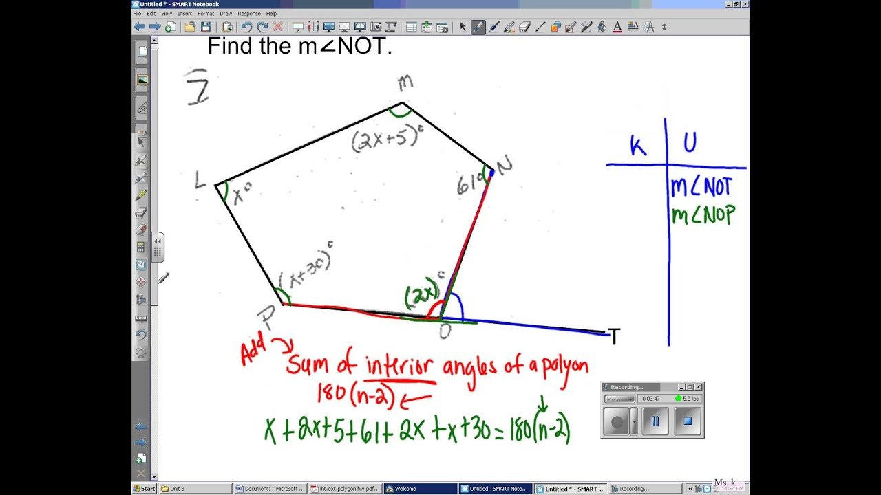Irregular polygons youtube - Find exterior angle of a polygon ...