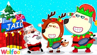 Oh No, Wolfoo Catch Santa Claus in Jail - Funny Stories for Kids About Christmas   Wolfoo Channel