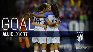 WNT vs. Netherlands: Allie Long Goal - Sept. 18, 2016