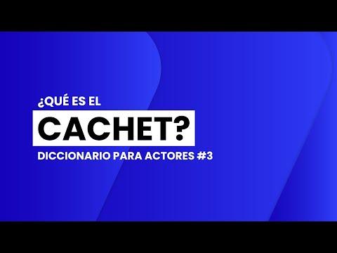 ¿Qué es el CACHET? | 📖🎬 DICCIONARIO para ACTORES #3