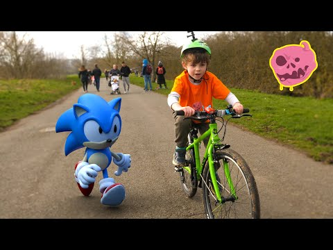 Real Sonic Hedgehog Vs Kids Race Who S Faster Youtube
