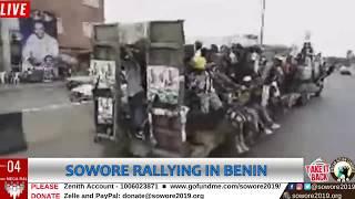 LIVE: Omoyele Sowore Campaign Train Benin #TakeItBack #AACParty #SOWORERUFAI2019 #TheAltern