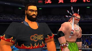 Giant Gram: All Japan ProWrestling 2 - Jeffrey and Wolf (Dreamcast 60FPS)