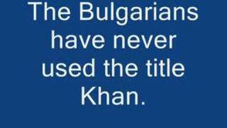 Origins of the Bulgarians