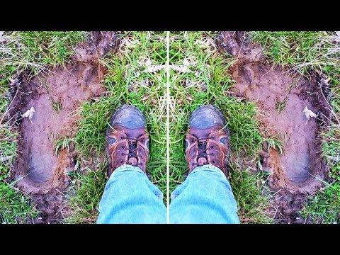 Did This Man Dis A Giant Footprint Belonging To Bigfoot?