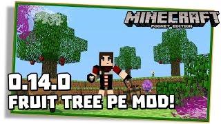 Minecraft PE 0.14.0: ÁRVORES DE FRUTAS - BANANA, etc! ( FruitTree / Pocket Edition / MCPE)
