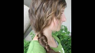 Side Fishtail Combo | Ponytails | Cute Girls Hairstyles