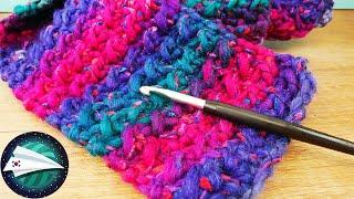 크로셰 뜨개질 연습하기 | 그라데이션 컬러의 멋진 스카…