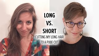 From long hair to a pixie cut / Hair donation