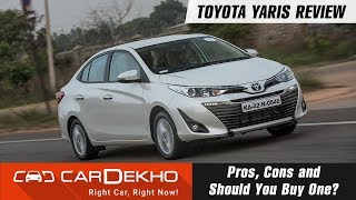 Toyota Yaris Review | Pros, Cons and Should You Buy One? | CarDekho.com