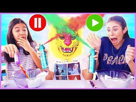 Pause Slime Challenge Borik Gel Slaym Eğlenceli Çocuk Videosu Dila Kent