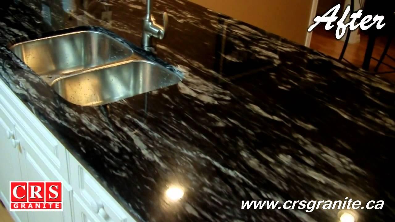 CRS Granite  Before  After  Titanium  Granite 34 2cm