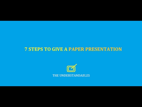 WHAT IS A PAPER PRESENTATION?