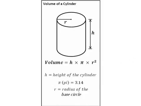 maths how to work out volume of a cylinder